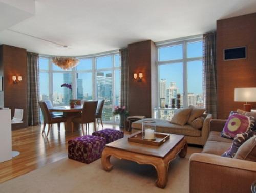 Element Condominium Living Room - Upper West Side NYC Condominiums