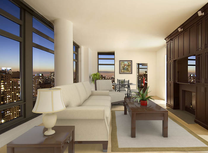 The Cielo Living Room – Manhattan Condominiums for Sale