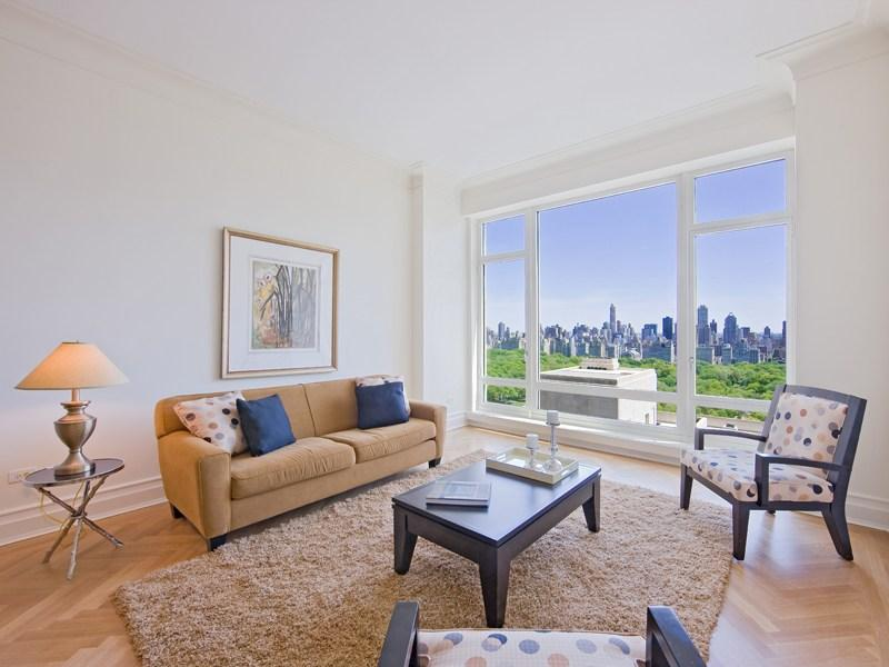 15 Central Park West Living Room, 15 CPW Condos Rentals