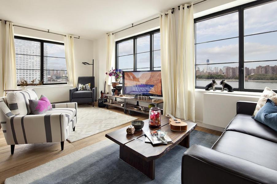 Living Room with View - Condominiums for Rent in Brooklyn