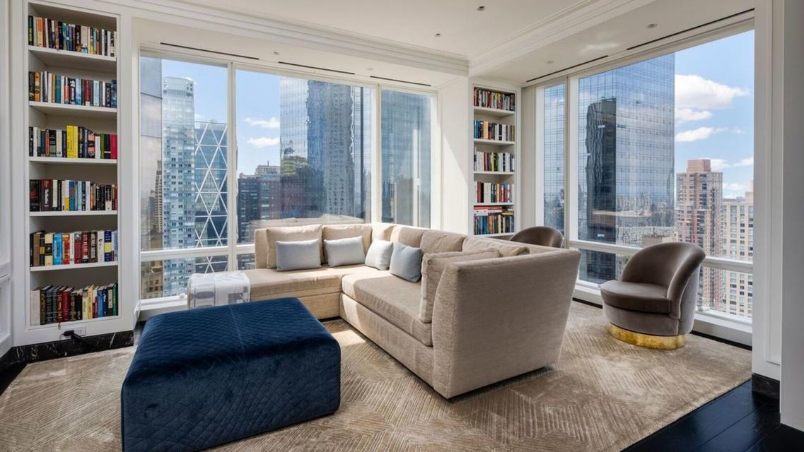 Living Room at Trump International - 1 Central Park West