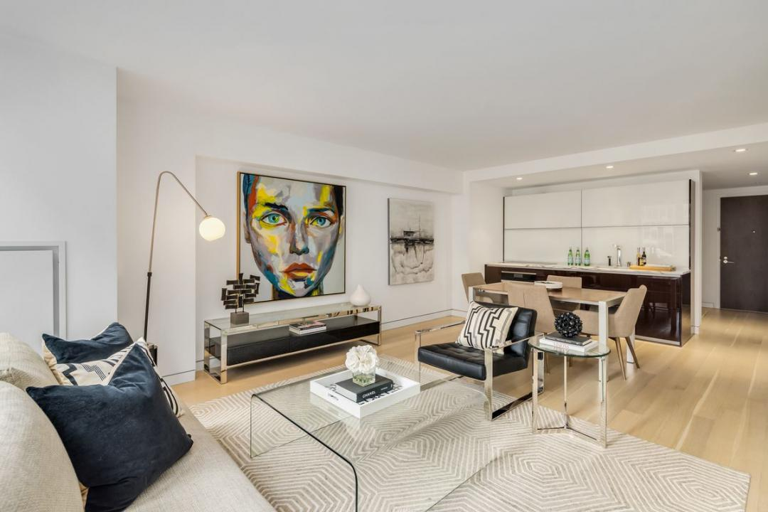 Living Room at 135 West 52nd Street