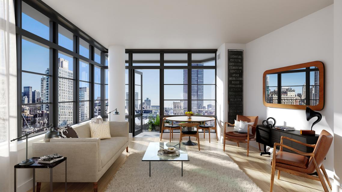 Living Room at The Noma - 50 West 30th Street