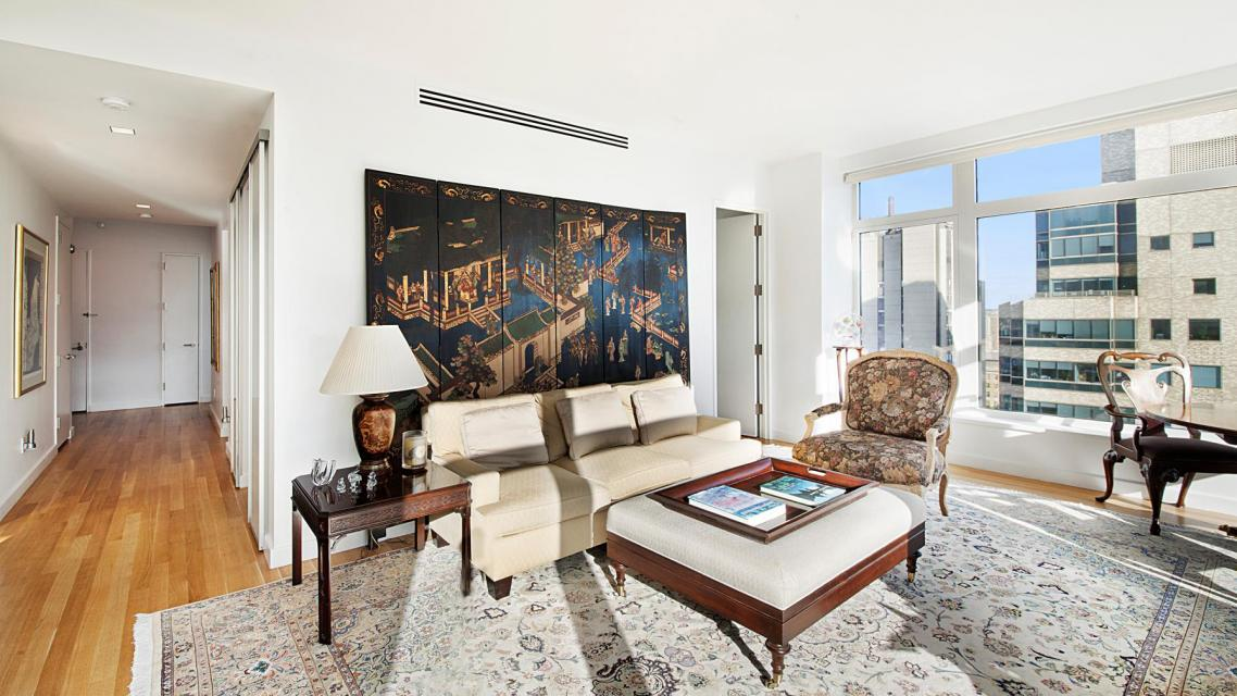 Living Room at The Laurel - 400 East 67th Street