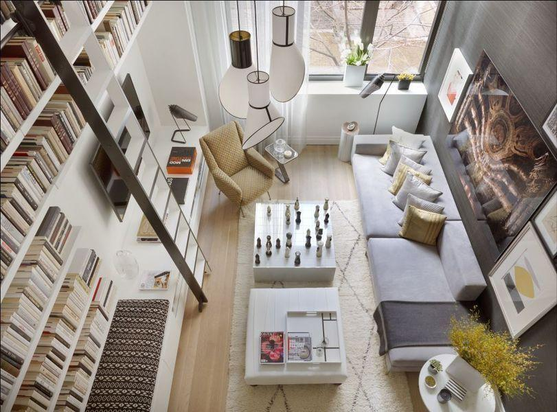 Living Room - Luxury Rentals at Printing House