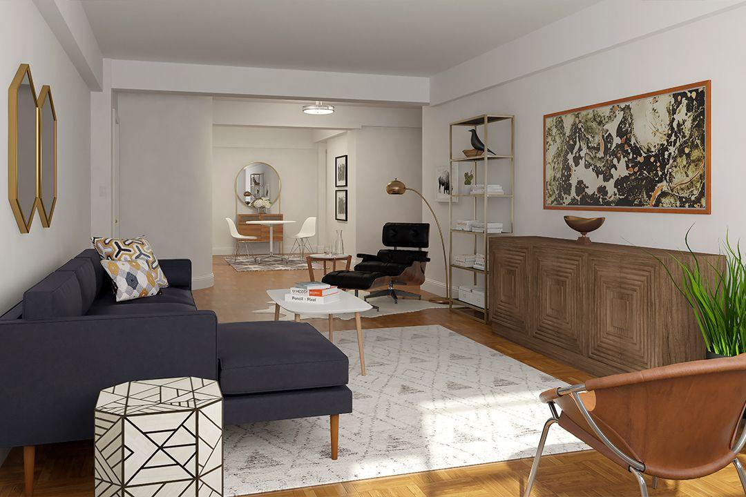 Living Room at 4 East 89th Street