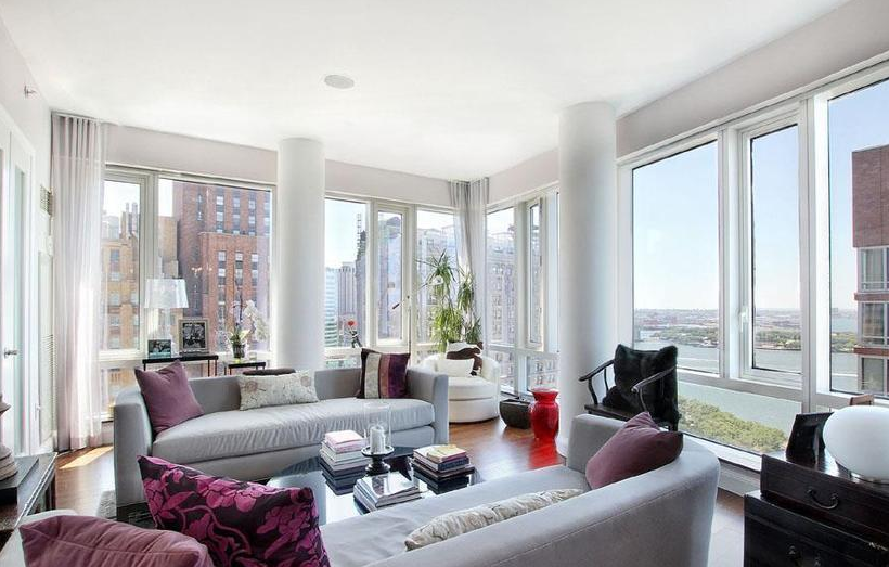 Living Room - The Visionaire - Battery City Park Apartments