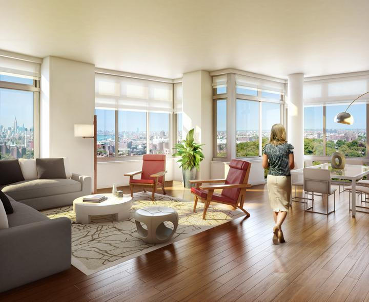 Living Room - 80 DeKalb Avenue Condos for Rent