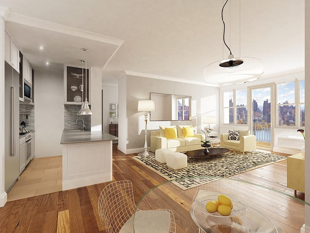 Living Room at Central Park Gardens - 50 West 97th Street