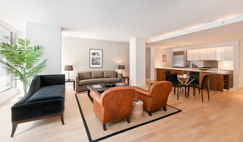 Living Room at Chelsea Modern - 447 West 18th Street