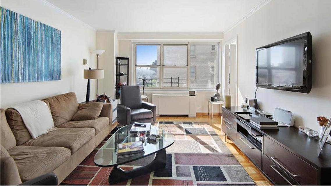 Living Room at Dorchester Towers - 155 West 68th Street