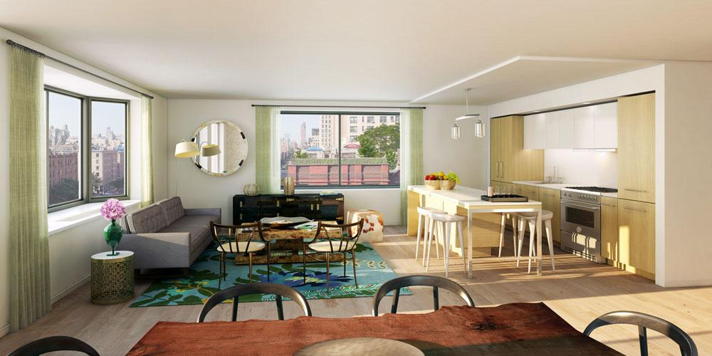 Living Room- 101 West 87th Street- apartments for rent in nyc