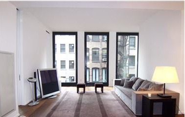 View of Living Room in 40 Bond Street, Greenwich VIllage