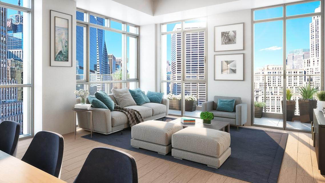 Living Room at ML House - 1050 Sixth Avenue