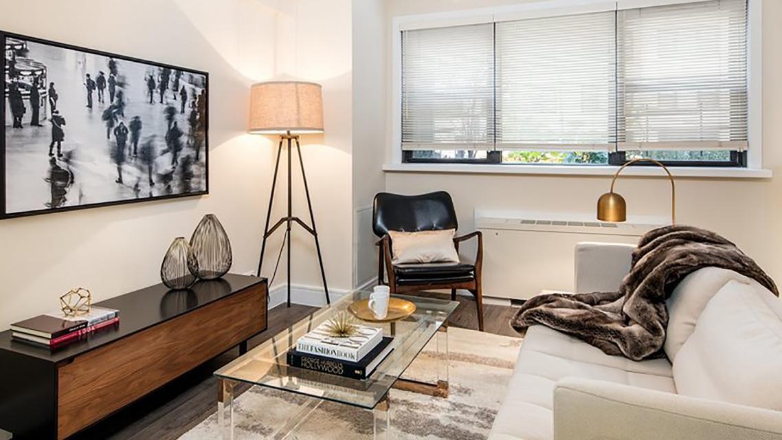 Living Room at Renoir House - 225 East 63rd Street