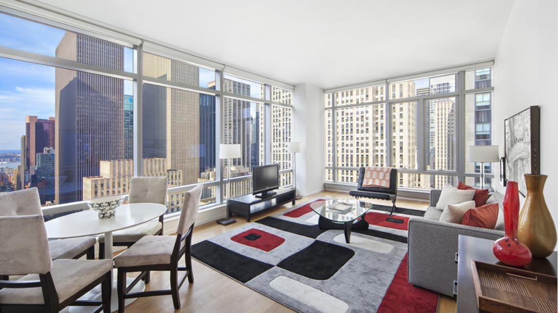 Living Room at The Centria - 18 West 48th Street