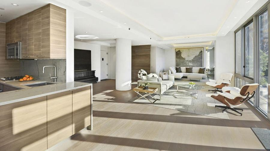 Living Room at The Hudson Condominiums - 225 West 60th Street
