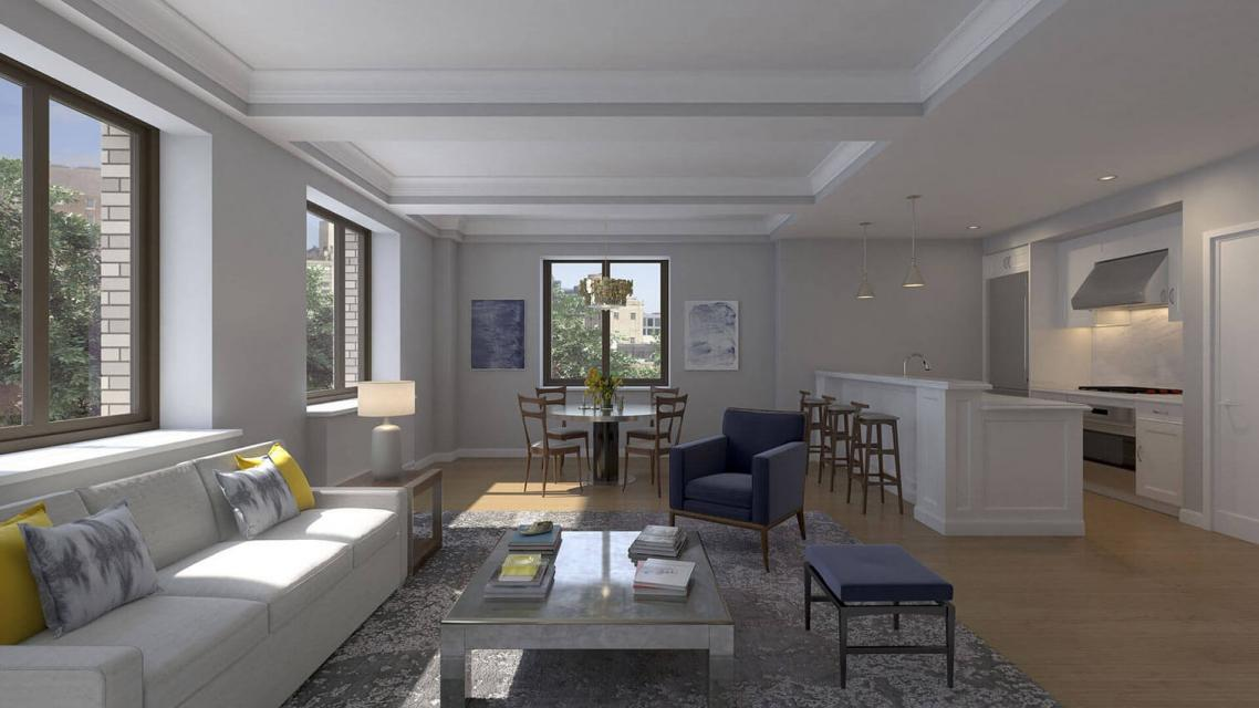 Living Room at The Prewar at Gramercy Square - 225 East 19th Street