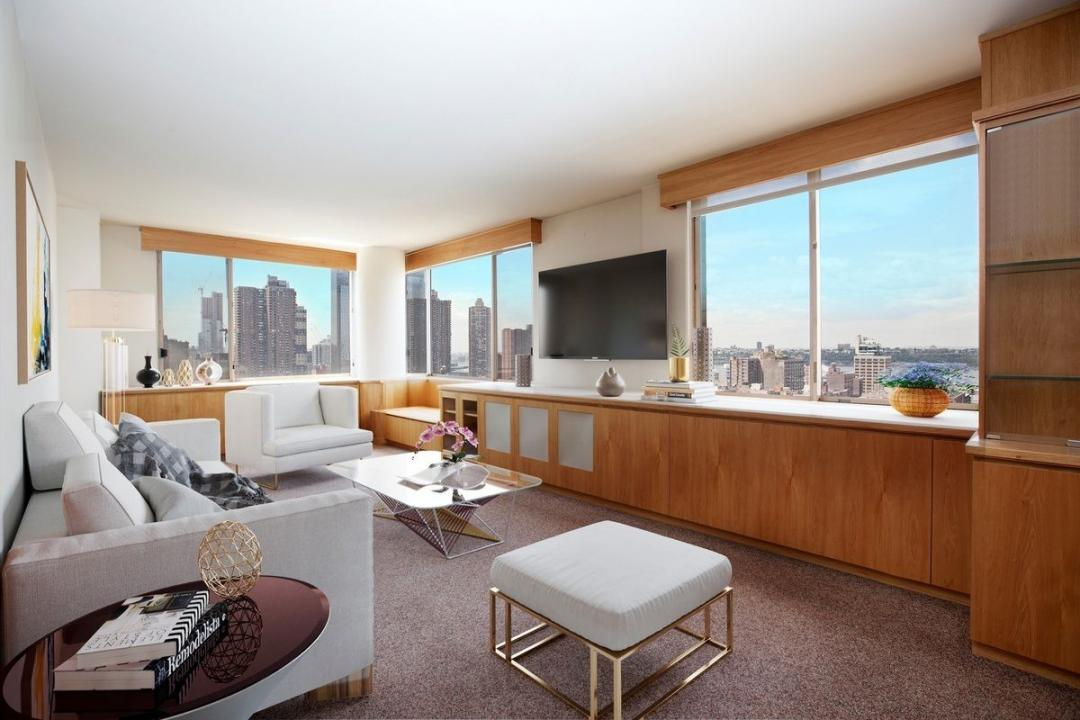 Living Room at Two WorldWide Plaza - 350 West 50th Street