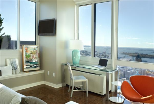 Living Room with View - Condominiums for Rent in Downtown Brooklyn