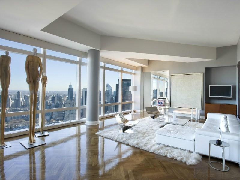 Living Room at Time Warner Center Condominium NYC Condos - Luxury NYC Condos