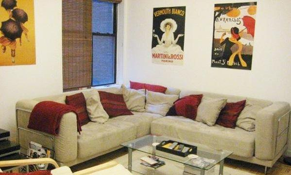 Living Room at 526 West 111th Street in Manhattan