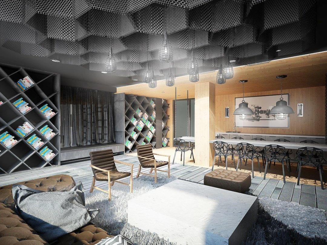 Lounge at 26 West Street - NYC Apartments for rent