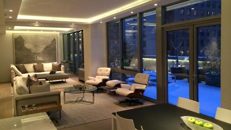 Lounge at The Hudson Condominiums - 225 West 60th Street