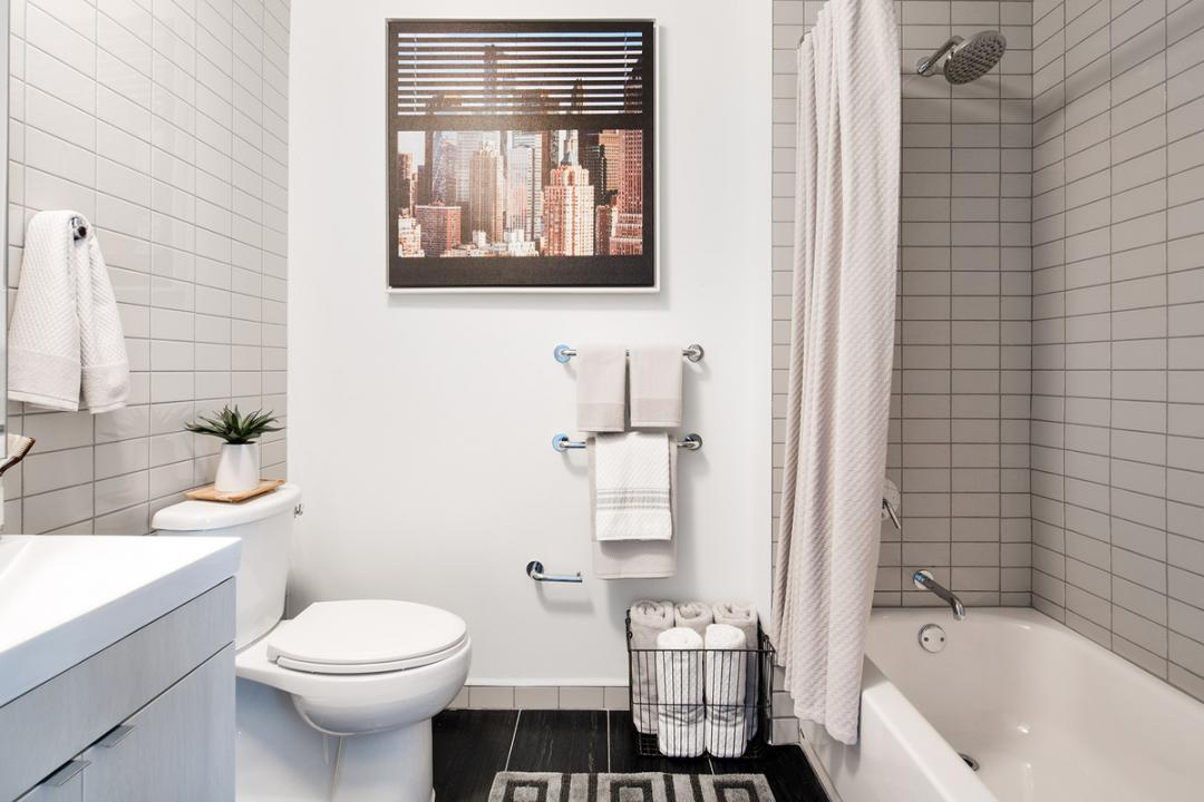 Bathroom at 42-15 Crescent Street in NYC - Apartments for rent