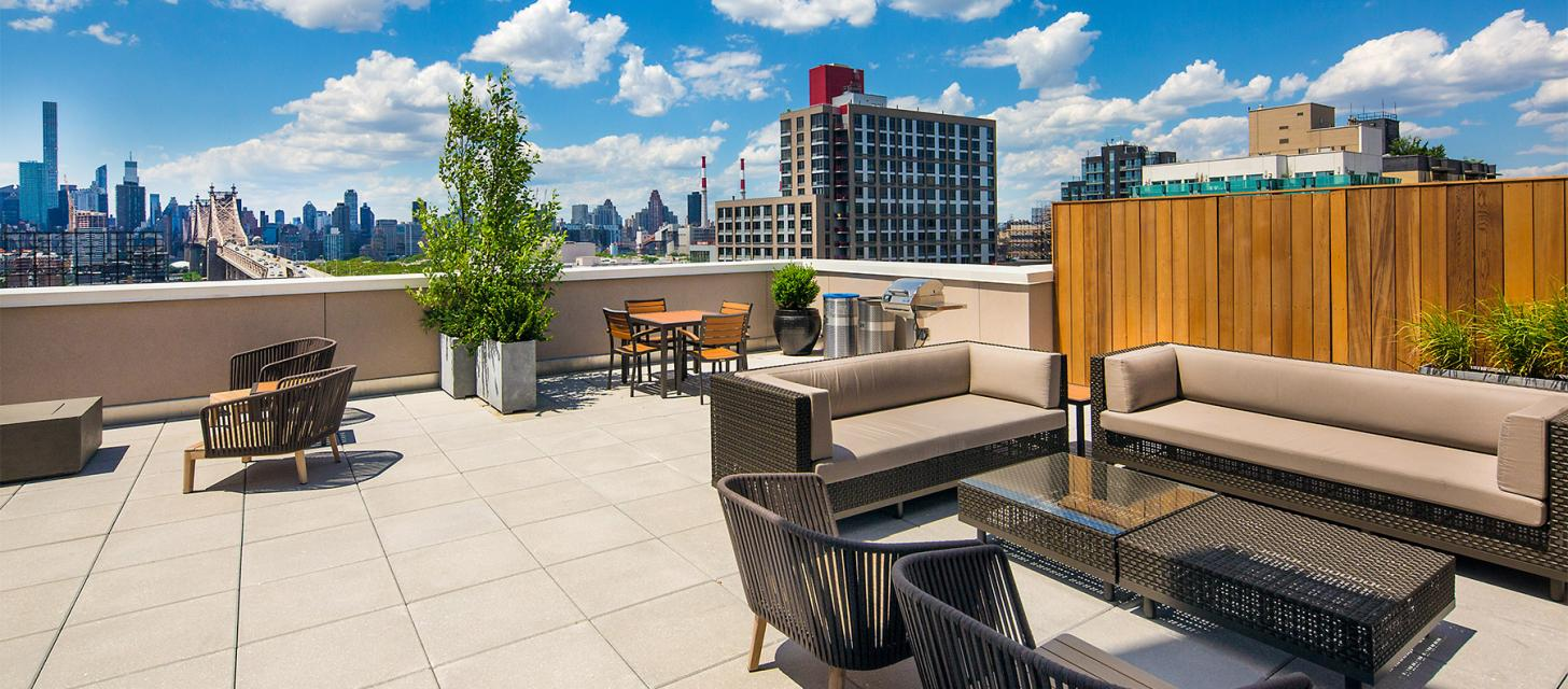 Rooftop Deck at 42-15 Crescent Street in Manhattan