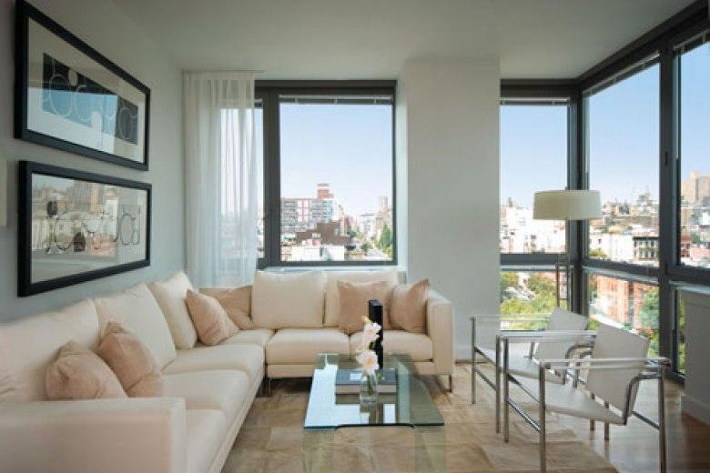 The Ludlow rental building Living Room - NYC Flats