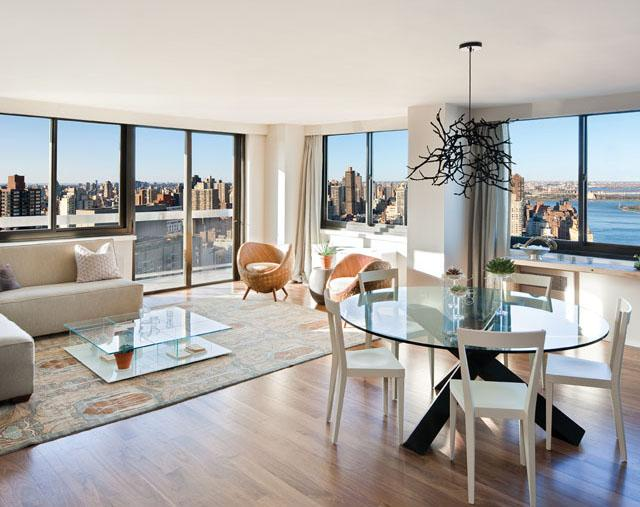 Miraval Living Tower Living Room - Condominiums for Sale NYC
