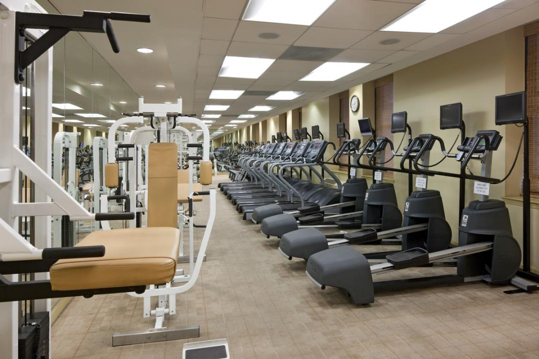 Wide variety of amenities at 1 West Street in Manhattan - Fitness Center