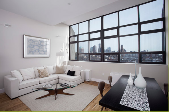 One Brooklyn Bridge Park Living Room- NYC Condominiums for Rent