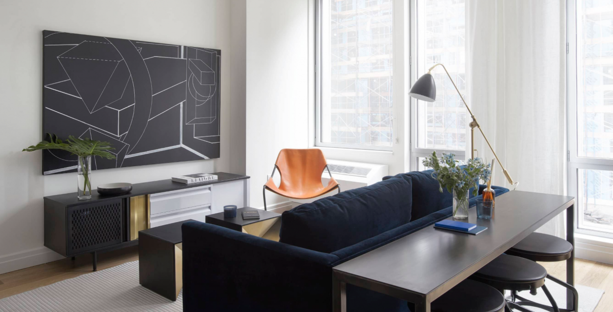 Rentals at One Hudson Yards in Manhattan - Living Area