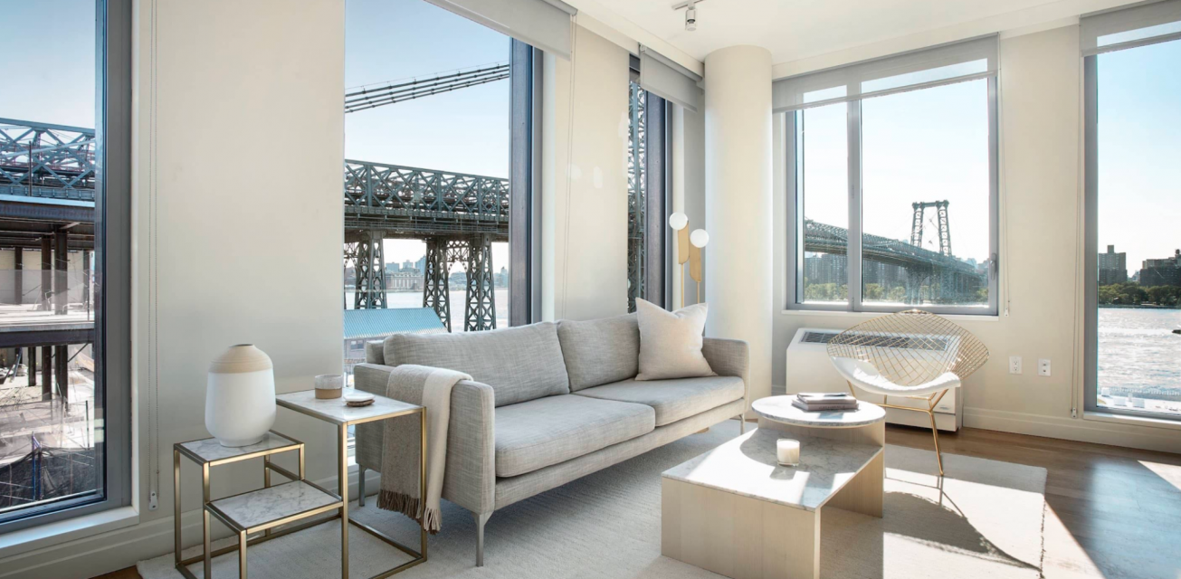 Living Room at One Hudson Yards in NYC - Aparments for rent