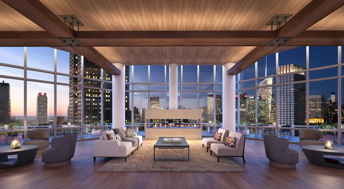 Lounge at 160 Madison Avenue in Manhattan - Apartments for rent