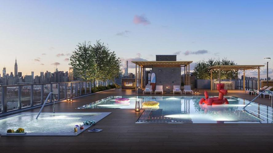 Rooftop Terrace at Otto Greenpoint in NYC - Apartments for rent