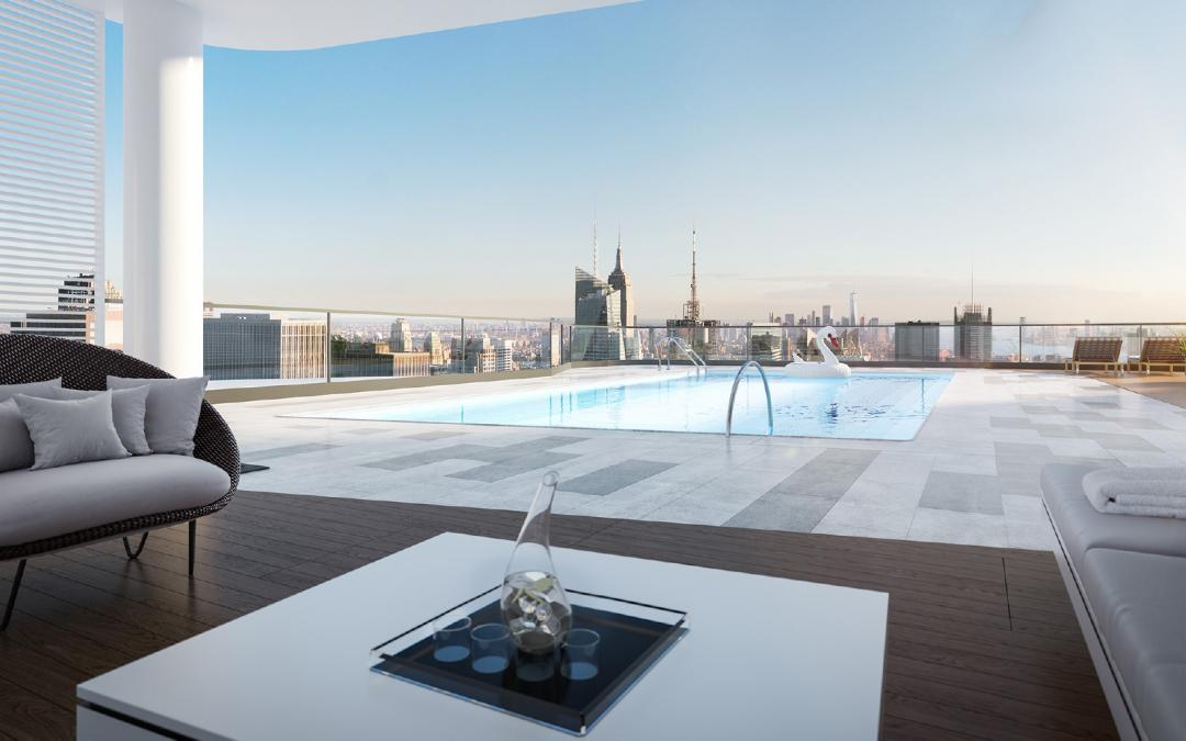 Rooftop Pool at Aro - 242 West 53rd Street
