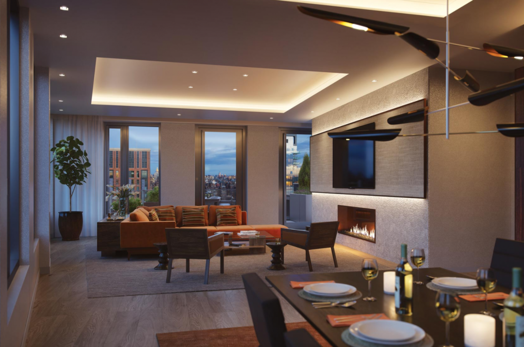 Rentals at One Hudson Yards in NYC - Penthouse Lounge