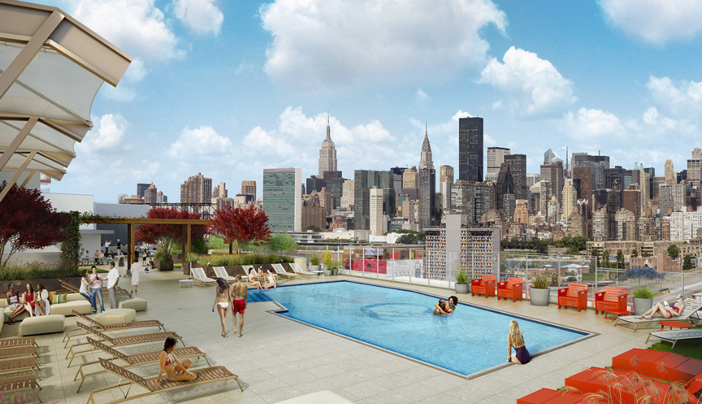 The pool at QLIC's rooftop