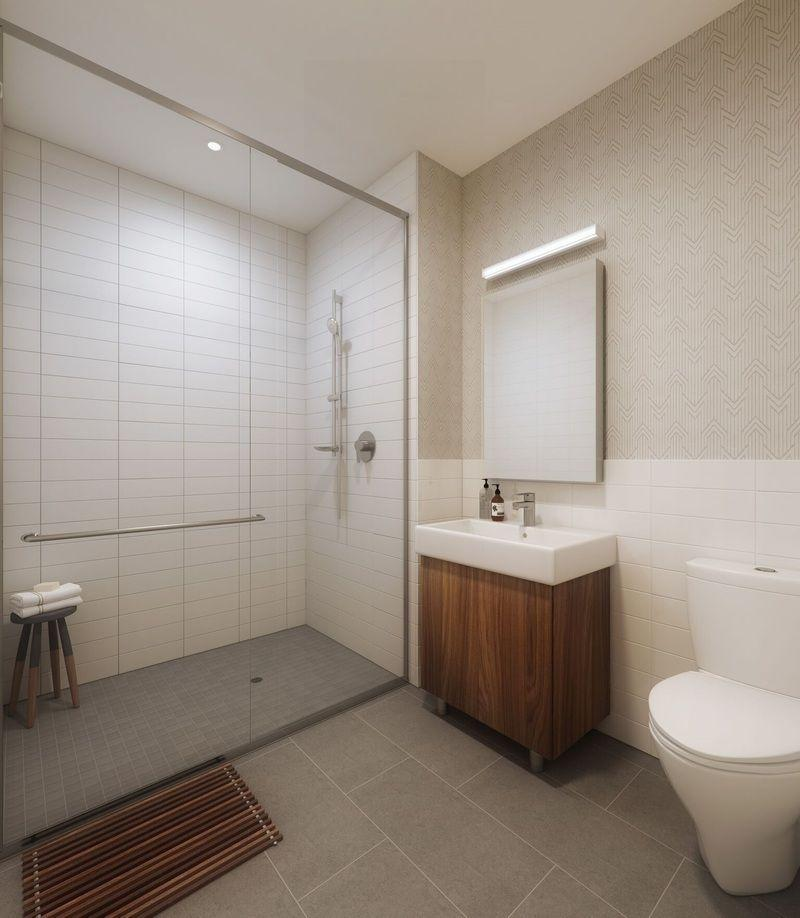 Bathroom at 42-20 24th Street - 1 QPS Tower