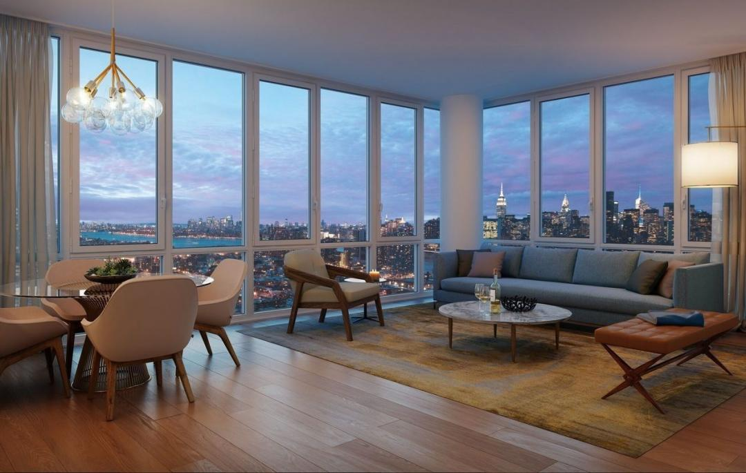 Living Room at 42-20 24th Street - 1 QPS Tower