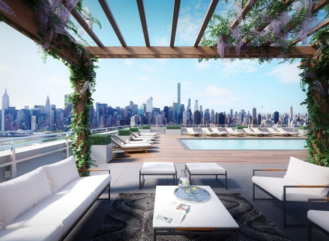 Rooftop Deck and Pool at 42-20 24th Street - 1 QPS Tower