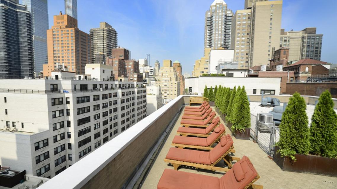 Regency Towers rental building Roof Terrace - NYC Flats