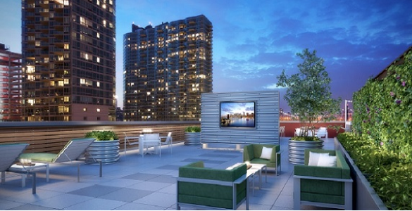 Rooftop View of The Maximilian Rental Apartments, Hunters Point Long Island City