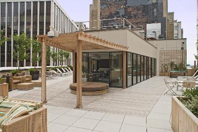 Rooftop Deck at 1 Wall Street - Luxury Apartments for Rent