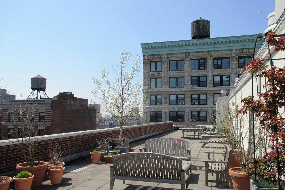 Rooftop Deck on the Silk Building, Noho, New York City