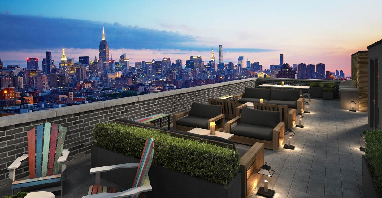 Rooftop Deck at 331 East Houston Street in NYC