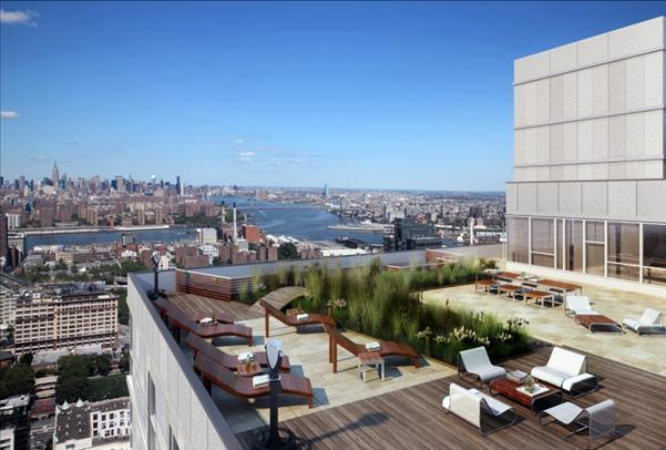 View from the Rooftop Deck of The Brooklyner - Luxury Apartments for Rent